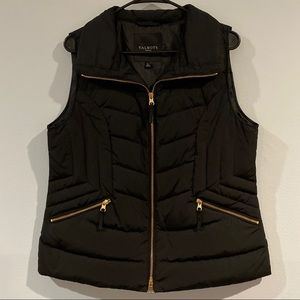 TALBOTS - women's black vest jacket